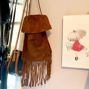 Handbags - Leather fringe detail bag
